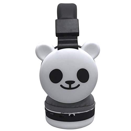 EXCEART Draadloze Headsets Kat Audio Hoofdtelefoon Panda Varken Eenhoorn On-Ear Hoofdtelefoon Aniamal Telefoon Headset…