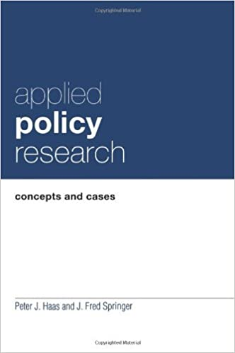 Book By Peter J. Haas Applied Policy Research: Concepts and Cases (Garland Reference Library of Social Science)