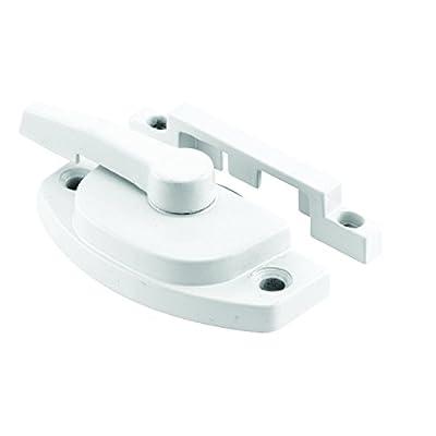 Prime-Line F 2588 Sash Lock, Diecast Construction, White, Used on Vertical & Horizontal Sliding Windows
