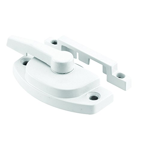 Sliding Window Sash - Prime-Line F 2588 Sash Lock, Diecast Construction, White, Used on Vertical & Horizontal Sliding Windows