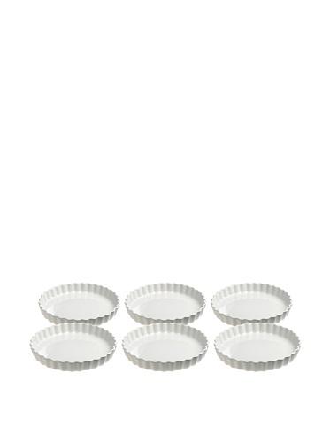 REVOL Set of 4 Flan Dishes, White