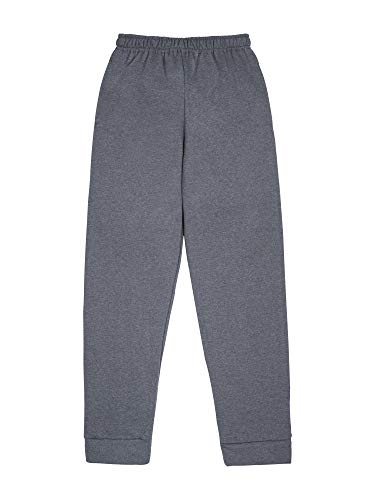 Fruit of the Loom Boys' Fleece Jogger Sweatpant, CHARCOAL HEATHER/TIMES SQUARE NAVY STRIPE, X-Large