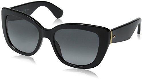 Kate Spade Women's Andrinas Cateye Sunglasses, Shiny Black/Gray Gradient, 54 - Kate Sunglasses Spade Black