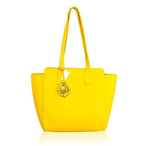 à bandoulière Valentino jaune Orlandi italien grand sac Designer main cuir sac en à A78Aqa