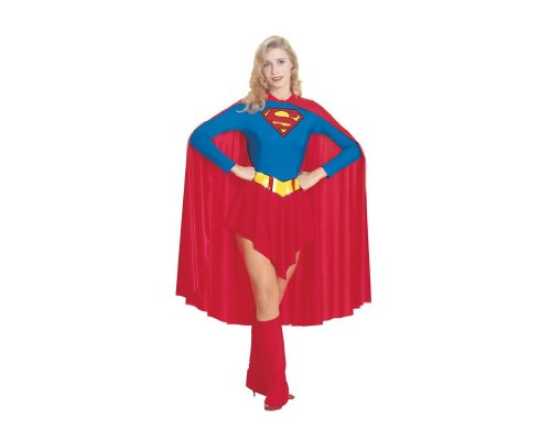 Adult's Womens Superman Supergirl Leotard Costume Size Small 6-10 ()