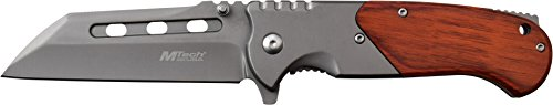 MTech USA MT-A1020GY Spring Assist Folding Knife, Grey Tanto