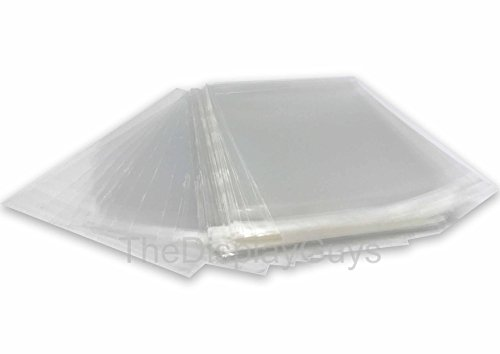 The Display Guys, 100 Pcs 12 7/16 x 16 1/4 Clear Self Adhesive Plastic Bags for 12x16 inches Picture, Poster, Photo Framing Mats ...