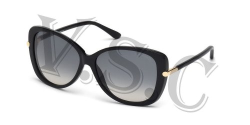 Tom Ford Linda Tf324 Sunglasses Ft 324 Butterfly Cat Eye Glasses 01b Shiny - Butterfly Ford Eyeglasses Tom