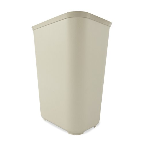 (Rubbermaid Commercial Fire-Resistant Wastebasket, Rectangular, Fiberglass 10 Gallons, Beige (254400BG))