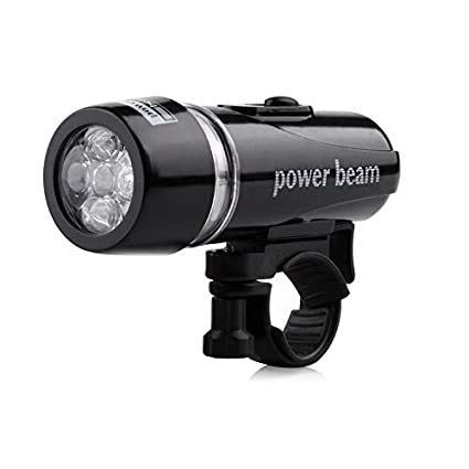 ZIGLY Bicycle 5 LED Power Beam Front Head Light Headlight Torch Lamp