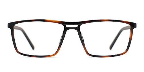 TIJN Narrow Double-bridge Rectangle Optical Eyeglass for - Narrow Glasses Bridge