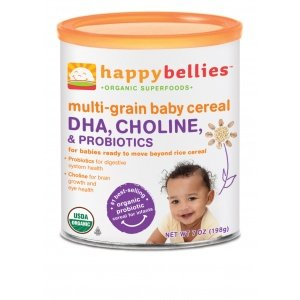 Happy Bellies Dha + Probiotic Organic Multigrain Cereal (7 Oz)