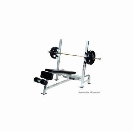 York Barbell 54039 Olympic Decline Bench with Gun Racks44; White by York Barbell