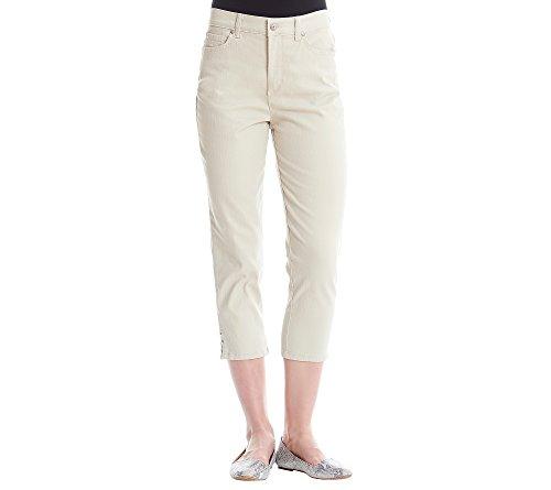 Gloria Vanderbilt Women's Amanda Capri Jeans, Laurel Mist, 8