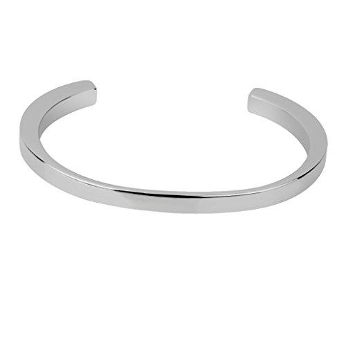 Bracelet Argenté Urne Funéraire Crémation Cendre des Animaux Bijoux Inox