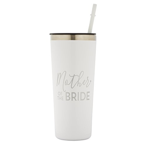Mother of The Bride - 22 oz Stainless Steel Insulated Tumbler (White and Silver)