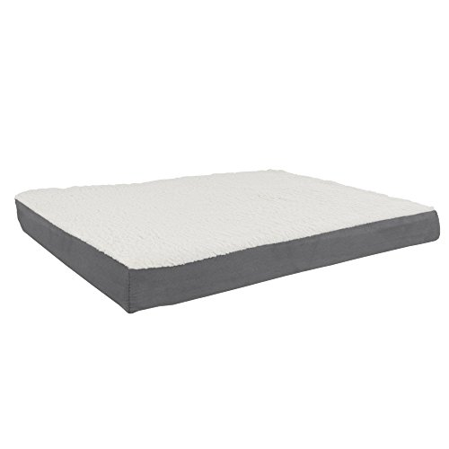 PETMAKER Orthopedic Sherpa Top Pet Bed with Memory...
