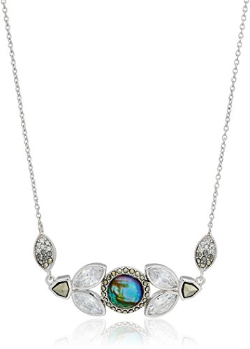 Judith Jack Sterling Silver Swarovski Marcasite and Abalone Cluster Pendant (Judith Jack Silver Necklace)