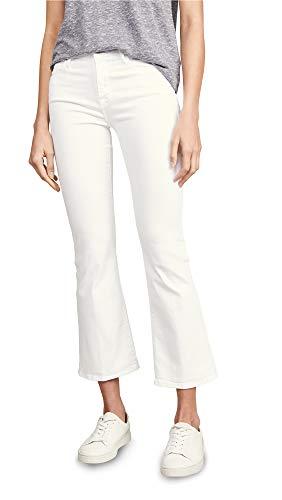 FRAME Women's Le Crop Mini Boot Cut Jeans, Blanc, Off White, 29