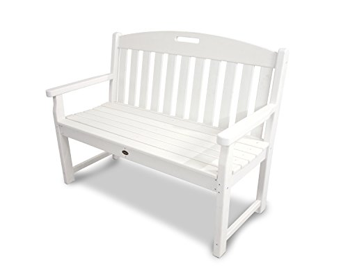 Cheap Trex Outdoor Furniture TXB48CW 48-Inch Yacht Club Bench, Classic White
