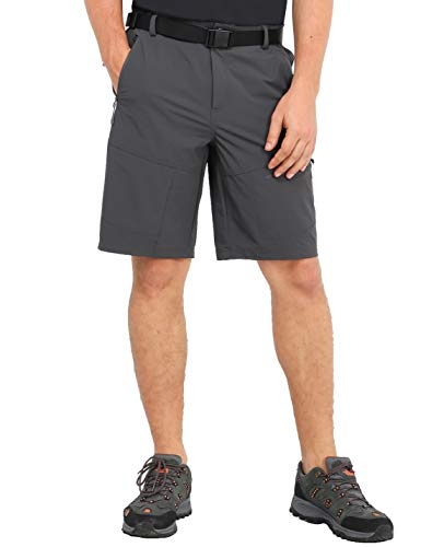 - MIER Men's Stretch Tactical Shorts Lightweight Outdoor Cargo Shorts with 5 Zipper Pockets, Quick Dry and Water Resistant, Graphite Grey, 32