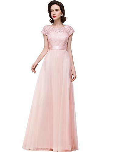 Champagne Lace Mother of the Bride Dresses for Weddings 2016 Formal Gowns,14,Dusty Pink