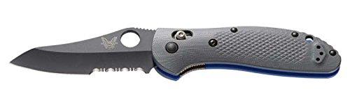 Benchmade Knife 550SBK-1 Griptilian Black Combo Edge Sheepsfoot Blade Gray  Blue G10 Handle by Benchmade Knife (Image #2)