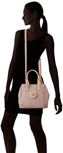 LOLA CASADEMUNT Donna, Bolso Baguette para Mujer, 24.5x14.5x23 cm (W x H x L) Rosa (Pink)