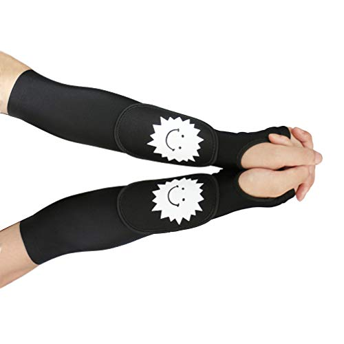 Luwint Youth Volleyball Arm Sleeves - Long Passing Forearm Sleeves for Women Youth with Protection Pad and Thumbhole 1 Pair