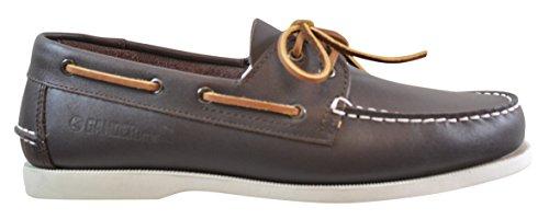 Gander Mountain Mens Deck Leather Boat Shoe  Brown  10 5