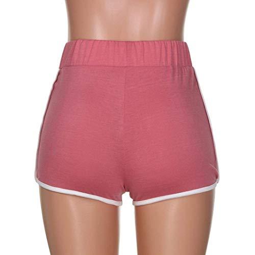 In Elastico Pantaloni Allenamento Vita Cintura Sportivi Casuale Corsa Yoga Donne Fitness Pantaloncini Estivi Donna Boxershort Rot Classiche Da rP7rS
