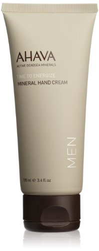 AHAVA Time to Energize Mineral Hand Cream for Men, 3.4 fl. o