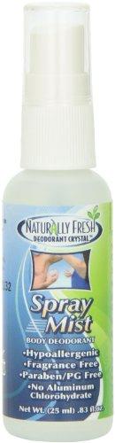- Naturally Fresh Deodorant Crystal Mini Spray Mist, 0.83-Ounce Bottle (Pack of 30)