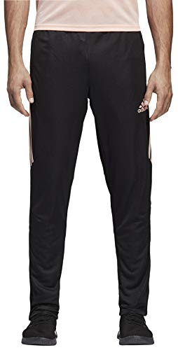 adidas Men's Soccer Tiro 17 Training Pant, Black/Haze Coral, Medium
