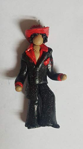 PRINCE Rock and Roll Hall 2004 INSPIRED Christmas Ornament BLACK/RED LIMITED EDITION HAND MADE