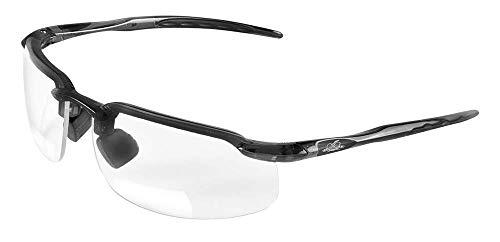 Bullhead Safety Eyewear BH106120 Swordfish Readers, Matte Black Frame, Clear Lens, 2.0 Diopter (1 Pair) by Bullhead Safety Eyewear