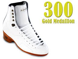 Riedell Model 300 Gold Medallion Skating Boots white Size 4 Med