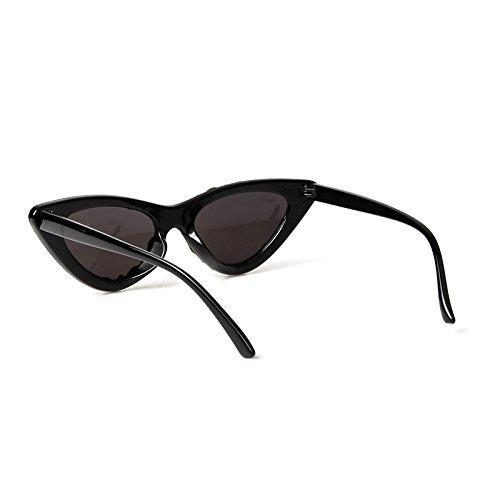 Diamantes Espalda De Gafas Triángulo Gafas De Pequeño Il Sexy Sol Negro Rojo De Ojo nero Vintage Negro Uv400 Gafas De Mujer De TIANLIANG04 Hembra Gato Gafas Lujo OanqxwnC
