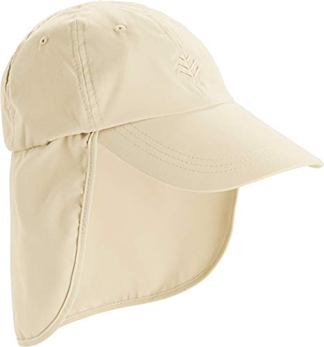 Coolibar UPF 50+ Men's Women's All Sport Hat - Sun Protective (One Size- Stone)