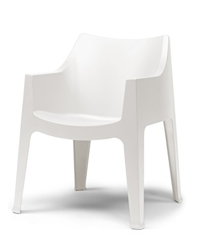 Parada One Design 2320 11 Coccolona Modern Indoor/Outdoor Stackable Dining or Accent Chair, Linen White Review