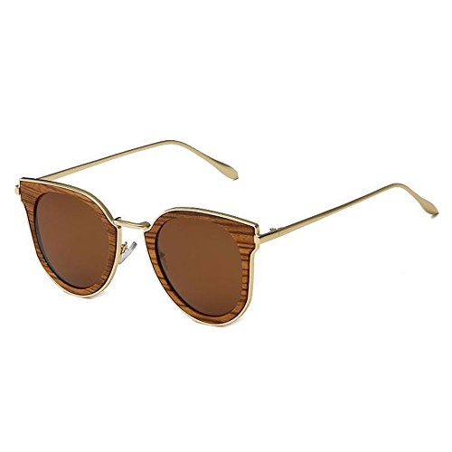 Libre de Mano Bambú Lentes Conducción Sol I Aire de a y la Gafas Polarizada de Hombres UV al Aumento para Puro Gafas Hecho YANKAN Capa Sol o Mujeres para qwOp0PUx