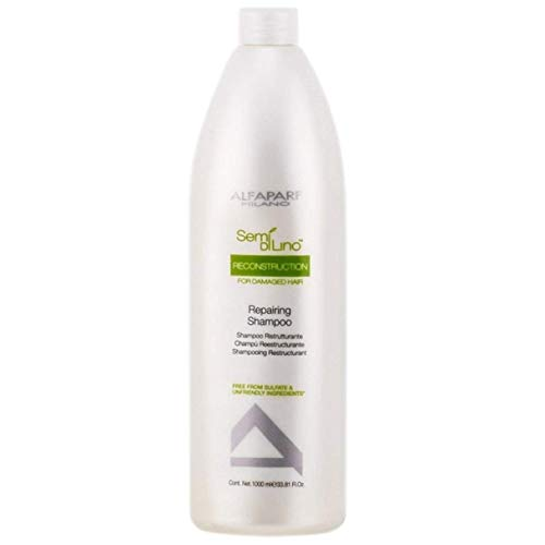 Alfaparf Dry Hair Shampoo - Semi Di Lino Reconstruction Reparative Shampoo, 33.8 Fl Oz