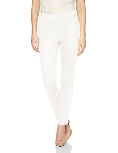 Calvin Klein Women's Cropped Pull On Pant, Soft White, L ()