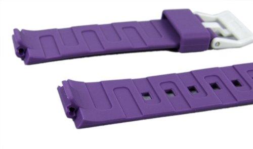 Casio watch strap watchband Resin Band purple LDF-52-6AEF LDF-52 LDF-50