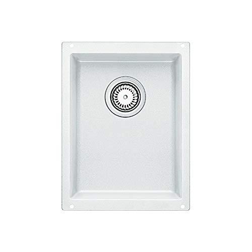 Blanco BL440146 Silgranit BlancoPrecis Single Medium Bowl, White