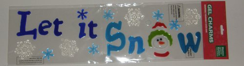 Let It Snow Winter Christmas Gel Window Clings