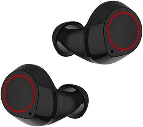 LLDKA K4 Auricular Bluetooth 5.0 Wireless Mini Invisible Verdadero Deporte Corrientes al Aire Libre Electrónica,Negro