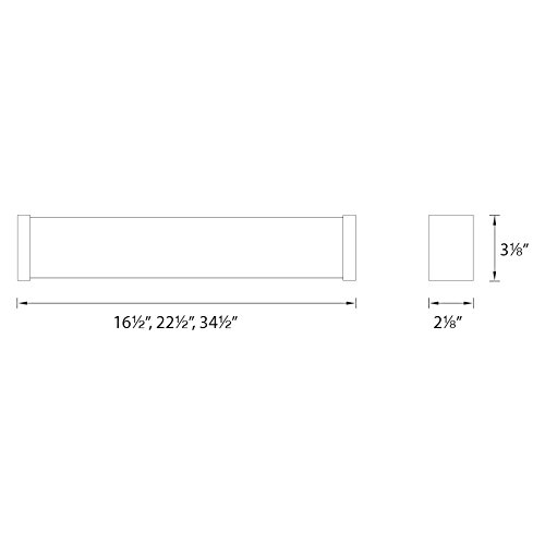 WAC Lighting WS-7322-35-BN DweLED Svelte 22in LED Bathroom Vanity /& Wall 3500K in Brushed Nickel Light Fixture 22 Inches,