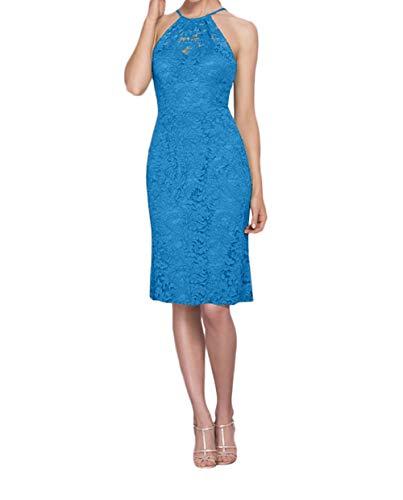 Spitze Etuikleider Abendkleider La Blau Marie Ballkleider Gruen Brautmutterkleider Braut Knielang Dunkel zXwOYz