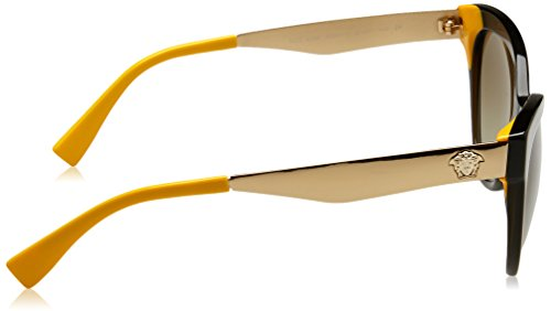 Transparent Green Yellow Versace VE4338 Sonnenbrille UqfW7p
